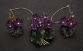 Estate Jewelry:Other , . Exquisite Carved Jade & Amethyst Pin & Earrings. ...