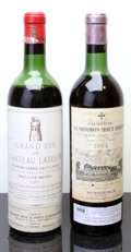 Red Bordeaux, Chateau La Mission Haut Brion . 1964 Pessac-Leognan vhs, bslBottle (1). Chateau Latour . 1961 Pauillac ... (Total: 2Btls. )