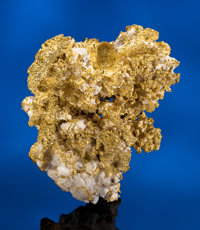 SUPERB AND LARGE CALIFORNIAN CRYSTAL GOLD IN QUARTZ