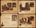 """Movie Posters:Crime, Bulldog Drummond (Hodkinson Pictures, 1922). Title Lobby Card & Lobby Cards (3) (11"""" X 14""""). Crime.. ... (Total: 4 Items)"""