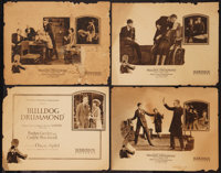 """Bulldog Drummond (Hodkinson Pictures, 1922). Title Lobby Card & Lobby Cards (3) (11"""" X 14""""). Crime. ... (T..."""