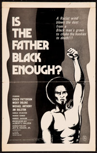 """Is the Father Black Enough? and Others Lot (Howco, 1975). Window Card (14.5"""" X 23""""), Uncut Pressbooks (2) (4 P..."""