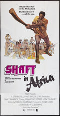 "Movie Posters:Blaxploitation, Shaft in Africa (MGM, 1973). Three Sheet (41"" X 79.5"").Blaxploitation.. ..."