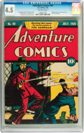 Golden Age (1938-1955):Superhero, Adventure Comics #40 (DC, 1939) CGC VG+ 4.5 Off-white pages....