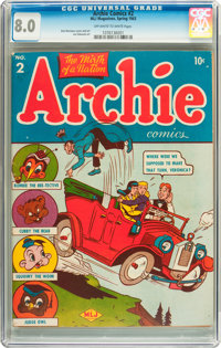 Archie Comics #2 (Archie, 1943) CGC VF 8.0 Off-white to white pages