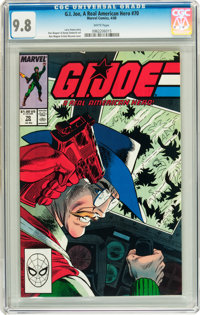 G. I. Joe, A Real American Hero #70 (Marvel, 1988) CGC NM/MT 9.8 White pages