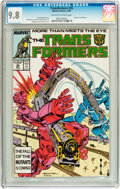 Modern Age (1980-Present):Science Fiction, Transformers #35 (Marvel, 1987) CGC NM/MT 9.8 Off-white to whitepages....