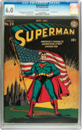 Golden Age (1938-1955):Superhero, Superman #24 (DC, 1943) CGC FN 6.0 Cream to off-white pages....