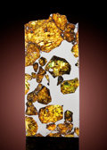 Meteorites:Palasites, A PART SLICE OF THE FUKANG PALLASITE. ...