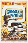 """Movie Posters:Science Fiction, Godzilla vs. the Thing (American International, 1964). One Sheet(27"""" X 41""""). Science Fiction.. ..."""