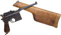 Handguns:Semiautomatic Pistol, Mauser Model 96 Military Contract Semi-Automatic Pistol with Matching Wood Shoulder Stock.. ...