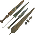 Edged Weapons:Knives, Lot of Seven Assorted Bronze Age Weapons and Artifacts.... (Total:7 Items)