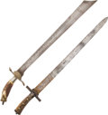 Edged Weapons:Swords, Lot of 2 Composite German Hunting Swords.... (Total: 2 Items)