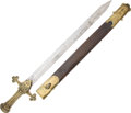 Edged Weapons:Swords, British Band Sword with Scabbard....