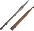 Edged Weapons:Knives, African Ethnographic Fighting Knife....