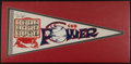 Baseball Collectibles:Others, Late 1960's Chicago Cubs Multi Signed Photograph Pennant....