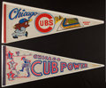 Baseball Collectibles:Others, 1960's and 1970's Chicago Cubs Vintage Pennants Lot of 4....