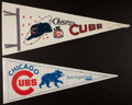 Baseball Collectibles:Others, Chicago Cubs Pennants Lot of 13....