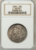 Bust Half Dollars: , 1831 50C AU58 NGC. NGC Census: (339/451). PCGS Population(220/465). Mintage: 5,873,660. Numismedia Wsl. Price for problem...