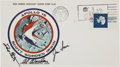 Transportation:Space Exploration, Apollo 15 Crew-Signed Insurance Cover Directly from the PersonalCollection of Mission Command Module Pilot Al Worden, Signed ...