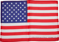 Transportation:Space Exploration, Apollo 15 Flown Large-Size American Flag Directly from the PersonalCollection of Mission Command Module Pilot Al Worden, Sign...