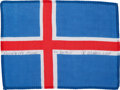 Transportation:Space Exploration, Apollo 15 Flown National Flag of Iceland Directly from the PersonalCollection of Mission Command Module Pilot Al Worden, Sign...