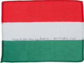 Transportation:Space Exploration, Apollo 15 Flown Flag of Hungary Directly from the Personal Collection of Mission Command Module Pilot Al Worden, Signed and Ce...