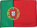 Transportation:Space Exploration, Apollo 15 Flown National Flag of Portugal Directly from the Personal Collection of Mission Command Module Pilot Al Worden, Sig...
