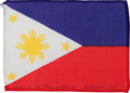 Transportation:Space Exploration, Apollo 15 Flown National Flag of the Philippines Directly from thePersonal Collection of Mission Command Module Pilot Al Word...
