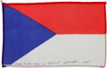 Transportation:Space Exploration, Apollo 15 Flown National Flag of Czechoslovakia Directly from thePersonal Collection of Mission Command Module Pilot Al Worde...