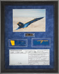 Transportation:Aviation, Blue Angels: F/A-18 Hornet Original Memorabilia Display. ...