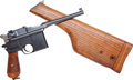 Handguns:Semiautomatic Pistol, Mauser Model 96 Commercial Semi-Automatic Pistol with Matching Wooden Holster Stock.. ...
