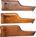 Arms Accessories:Holsters, Lot of Three Assorted Wooden Shoulder Stocks for a Model 96 MauserSemi-Automatic Pistol.... (Total: 3 )