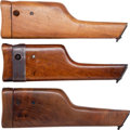 Arms Accessories:Holsters, Lot of Three Assorted Wooden Shoulder Stocks for a Model 96 MauserSemi-Automatic Pistol.... (Total: 3 Items)