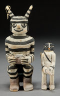 American Indian Art:Kachina Dolls, TWO HOPI COTTONWOOD KACHINA DOLLS. James Kootshongsie a.k.a JimmyKoots. c. 1950... (Total: 2 Items)