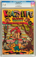 Golden Age (1938-1955):Funny Animal, KrazyLife #1 (Fox, 1945) CGC FN/VF 7.0 Cream to off-white pages....