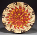American Indian Art:Baskets, A NAVAJO POLYCHROME TRAY...