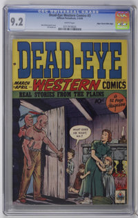 Dead-Eye Western Comics V1#3 Mile High pedigree (Hillman Publications, 1949) CGC NM- 9.2 White pages. Dan Zolnerowich co...