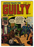 "Golden Age (1938-1955):Classics Illustrated, Justice Traps the Guilty #19 Davis Crippen (""D"" Copy) pedigree(Prize, 1947) Condition: VF-. Joe Simon and Jack Kirby cover ..."