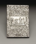 Silver Smalls:Other , A William IV Silver Castle Top Calling Card Case . Taylor &Perry, Birmingham, England. 1835-36. Silver. Marks: (lion pas...