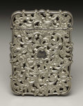 Silver Smalls:Other , A Victorian Silver Calling Card Case. Nathaniel Mills, Birmingham,England. 1839-40. Silver. Marks: (lion passant), (anch...