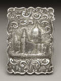 Silver Smalls:Other , A Victorian Silver Castle Top Calling Card Case . Joseph Taylor,Birmingham, England. 1847-48. Silver. Marks: (lion passa...
