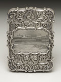 Silver Smalls:Other , A Victorian Silver Calling Card Case. Nathaniel Mills, Birmingham,England. 1848-49. Silver. Marks: (lion passant), (anch...