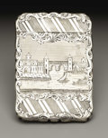 Silver Smalls:Other , An American Silver Calling Card Case. Leonard & Wilson,Philadelphia, Pennsylvania. 1847-50. Silver. Marks: L&W.3.5 ...