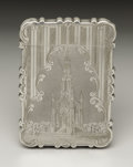 Silver Smalls:Other , A Victorian Silver Calling Card Case. Nathaniel Mills, Birmingham,England. 1849-50. Silver. Marks: (lion passant), (anch...