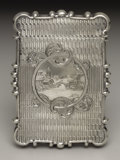 Silver Smalls:Match Safes, An American Silver Calling Card Case. Unknown maker, American.Circa 1850-56. Silver. Unmarked. 3.5 in. long, 1.27 troy ou...