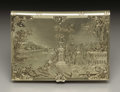 Silver Smalls:Other , A Gold Calling Card Case. Unkown maker, possibly American. Circa1864. 14 carat gold. Unmarked. 3.5 in. long, 2.19 troy ou...