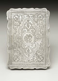 Silver Smalls:Other , A Victorian Silver Calling Card Case. Unknown maker, Birmingham,England. 1870-71. Silver. Marks: (lion passant), (anchor...