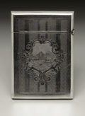 Silver Smalls:Other , An American Silver Calling Card Case. Gorham Manufacturing Company,Providence, Rhode Island. 1882. Silver. Marks: (lion-...