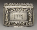 Silver Smalls:Vinaigrettes, A George III Silver Vinaigrette. Thomas Shaw, Birmingham, England.1818-19. Silver and silver gilt. Marks: (lion passant)...